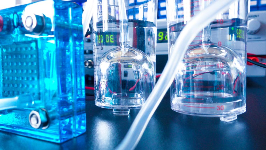 hydrogen cells in the laboratory